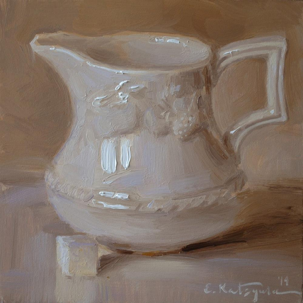 """Creamer on Beige"" original fine art by Elena Katsyura"