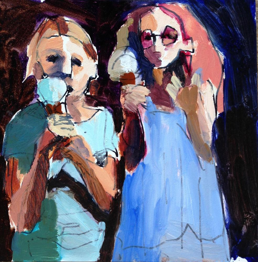 """Cone Cousins II"" original fine art by Pamela Hoffmeister"