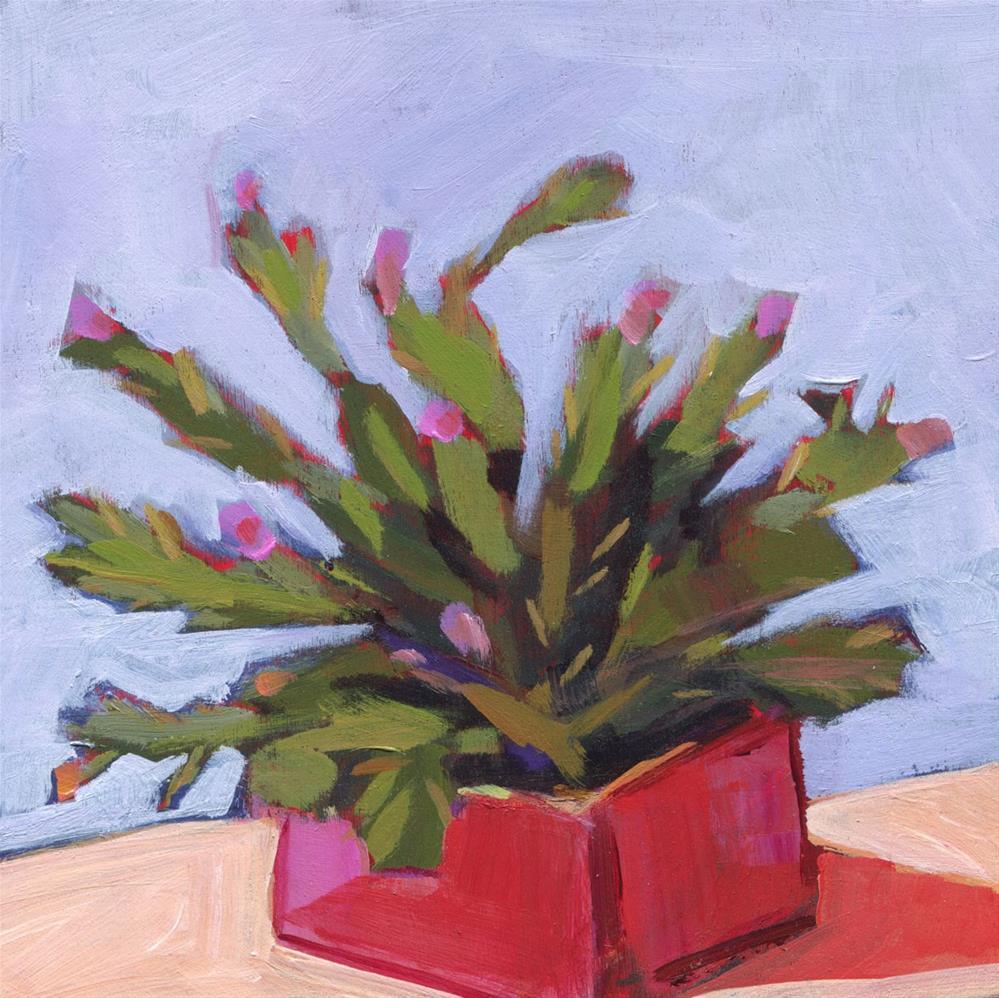 """0650: Christmas Cactus"" original fine art by Brian Miller"