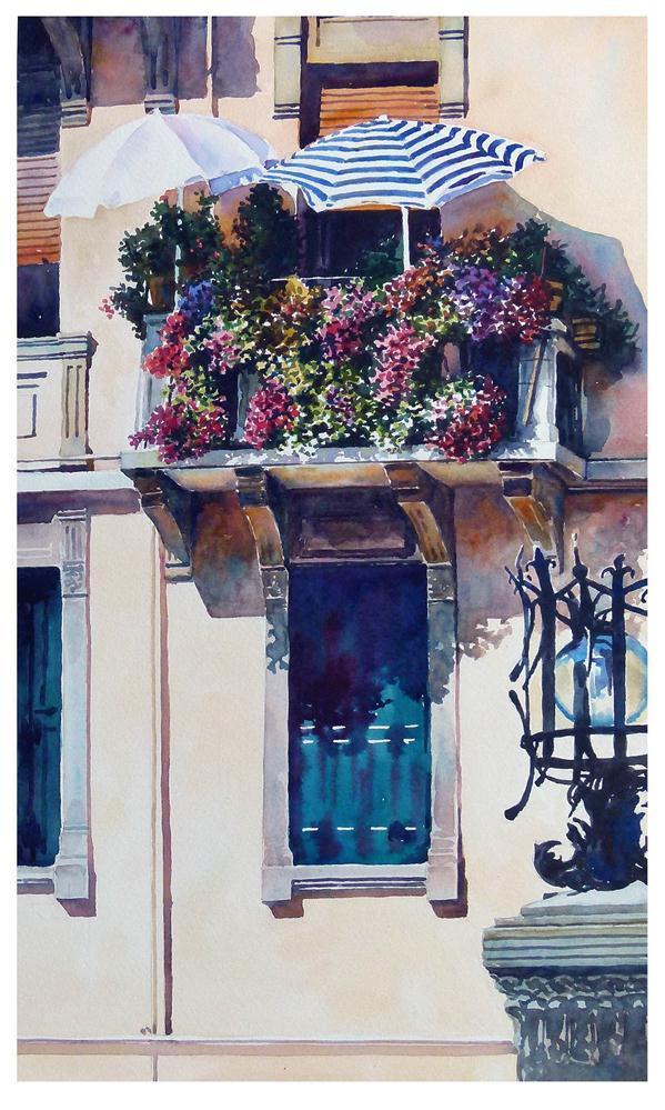 """""""Lido Balcony."""" original fine art by Graham Berry"""