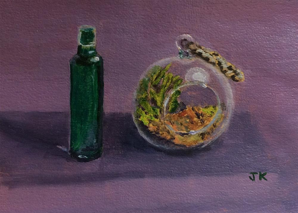 """Terrarium I"" original fine art by Jenny Kinberg"