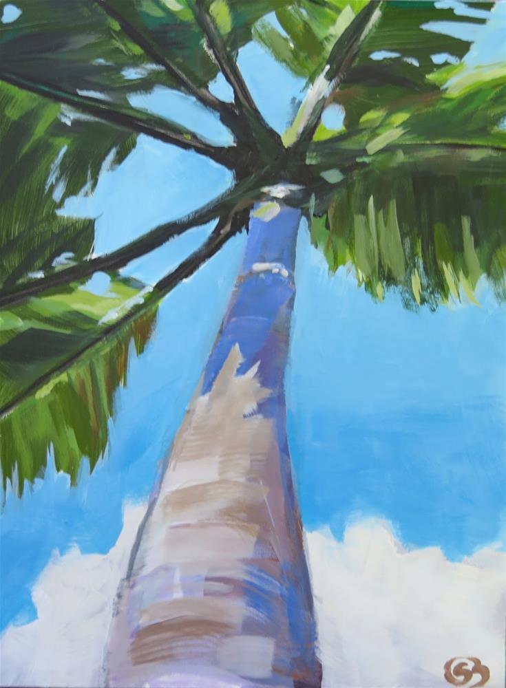 """Under the Palm Tree"" original fine art by Shari Buelt"