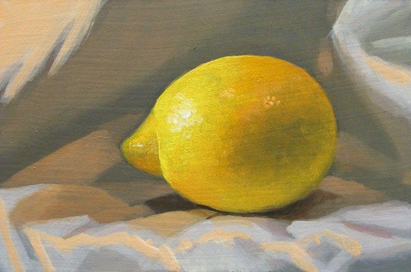 """""""Single lemon"""" original fine art by Peter Orrock"""