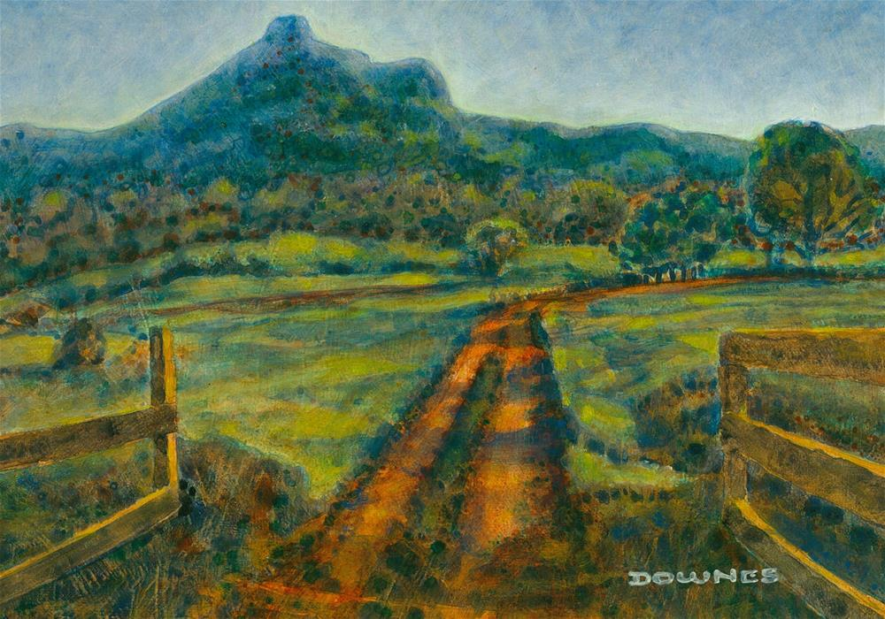 """110 MOUNT WARNING 32"" original fine art by Trevor Downes"