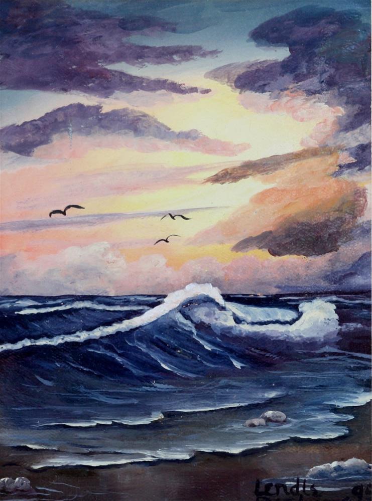 """Seascape"" original fine art by Lendel Holmes"