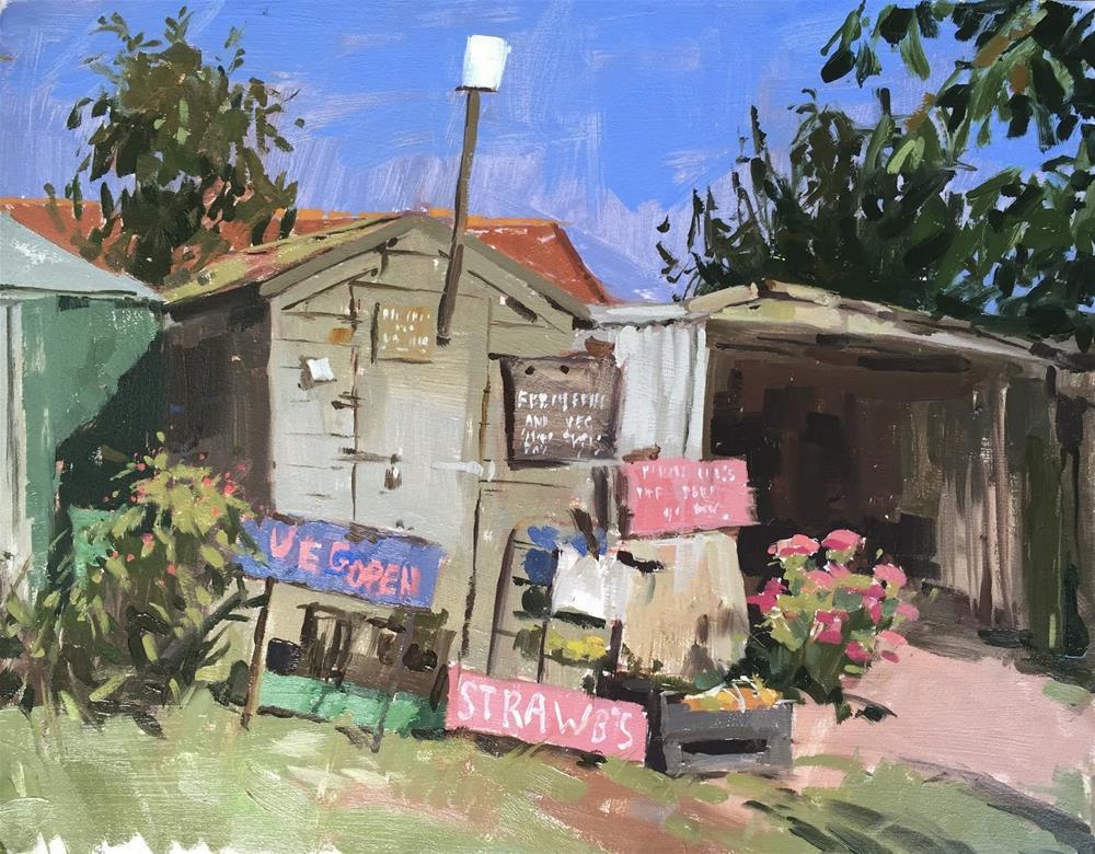 """Ken's fruit and veg"" original fine art by Haidee-Jo Summers ROI"