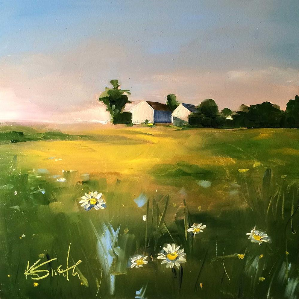 """from a distance"" original fine art by Kim Smith"