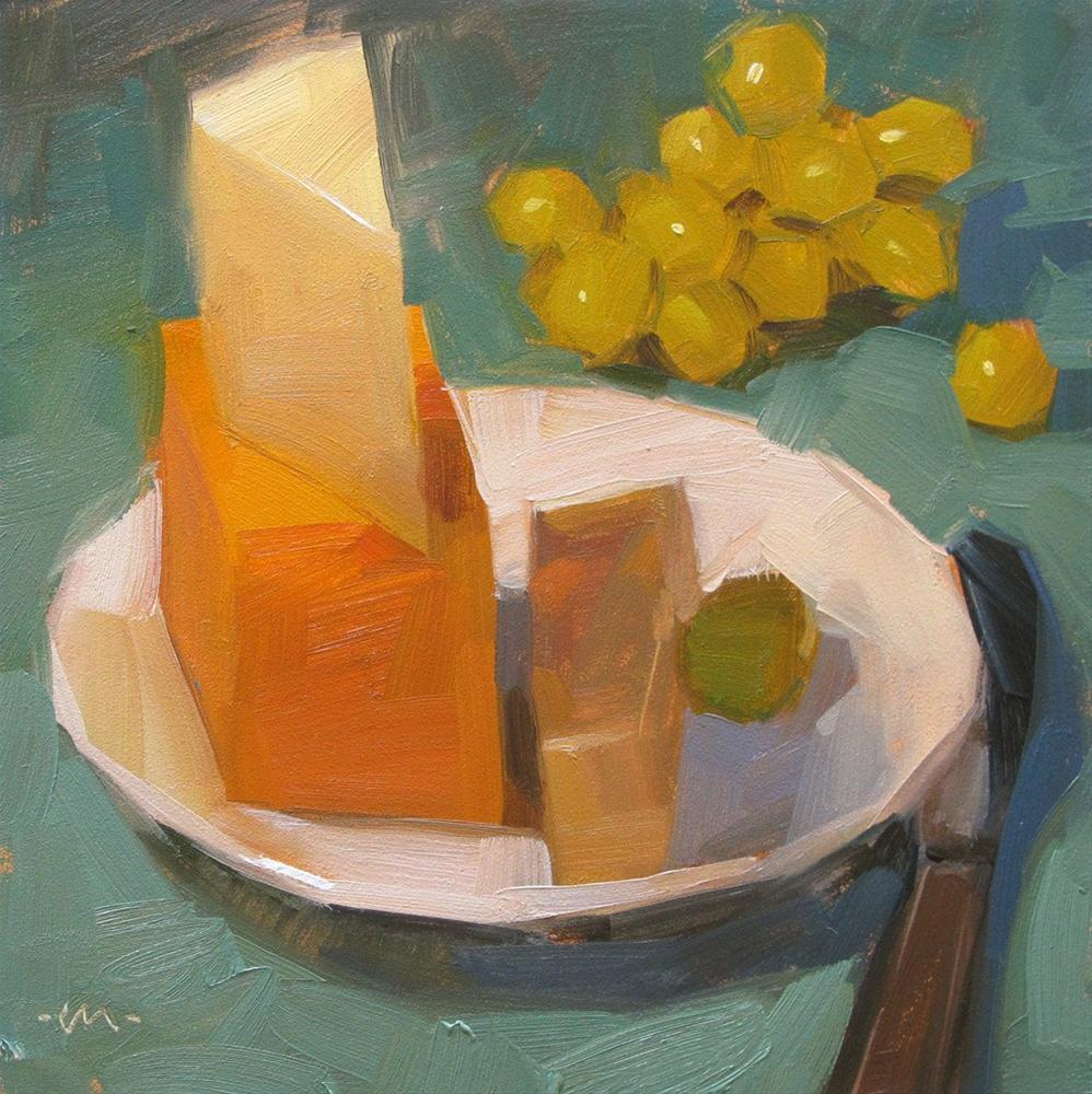 """Cheese and Grapes"" original fine art by Carol Marine"