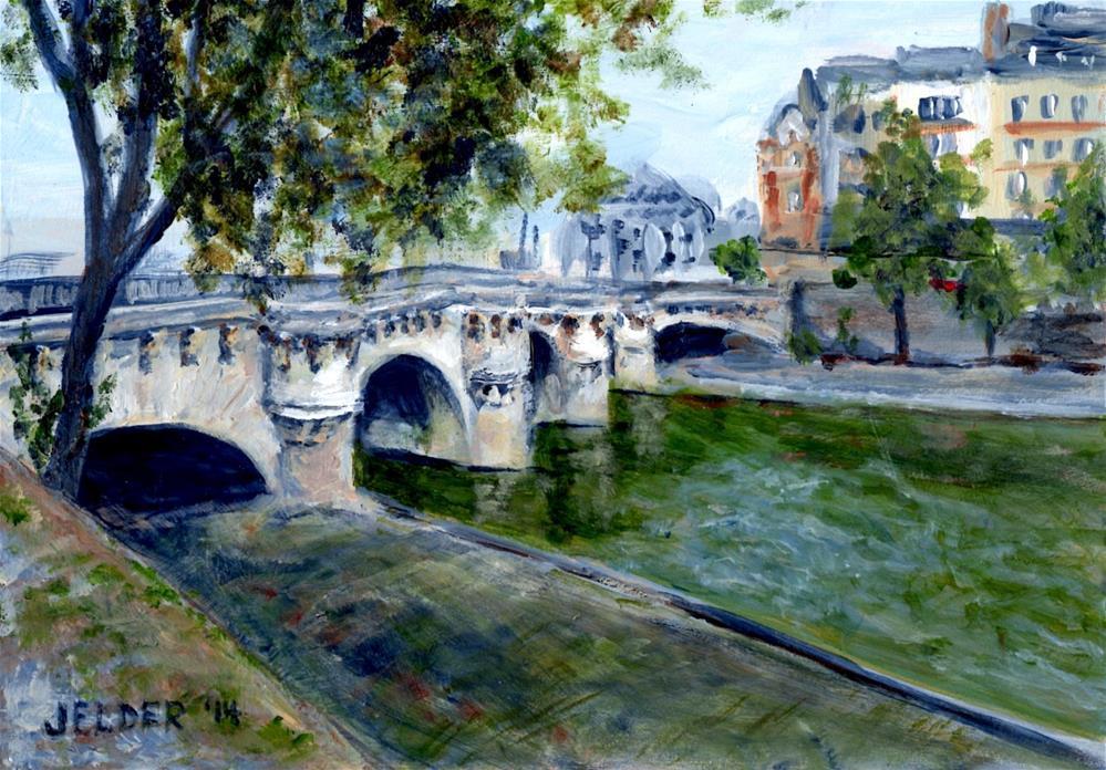 """""""Paris No. 38, Pont Neuf"""" original fine art by Judith Elder"""