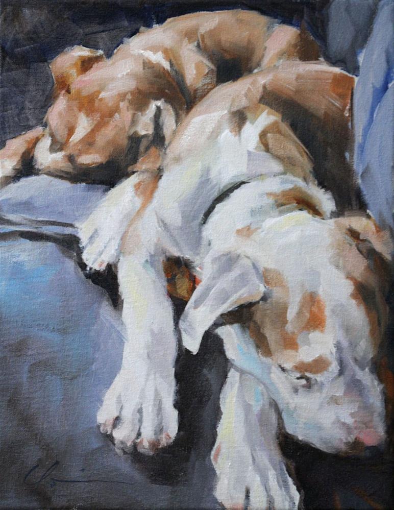 """Cain and Able"" original fine art by Clair Hartmann"