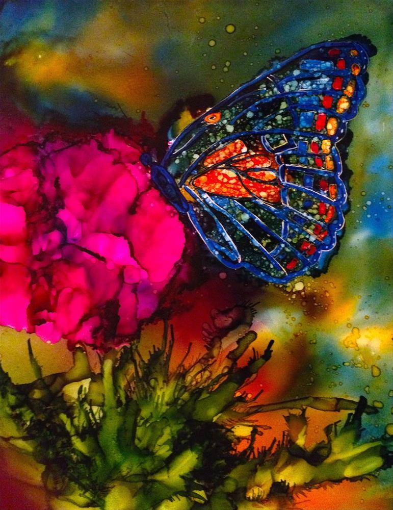 """""""Butterfly garden x"""" original fine art by Korinne Carpino"""