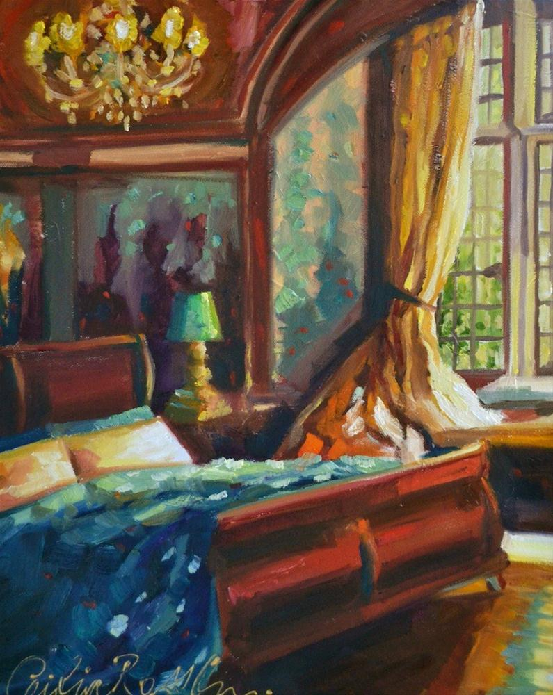 """Chambre á coucher"" original fine art by Cecilia Rosslee"