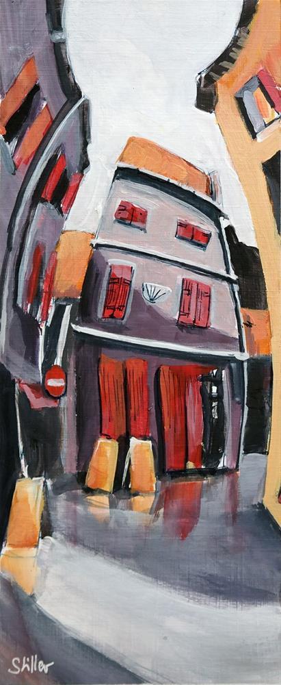 """""""2617 Ménerbes Acrylic"""" original fine art by Dietmar Stiller"""