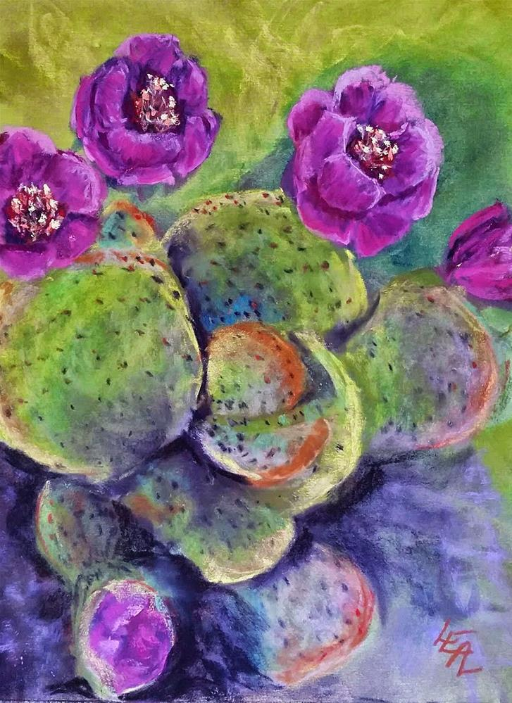 """Opulent Opuntia"" original fine art by Anna Lisa Leal"