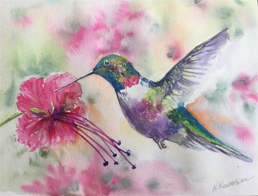 """A hummingbird 1"" original fine art by Natasha Ramras"