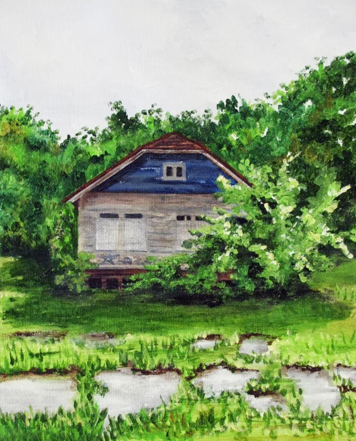 """Prairie Street, Detroit"" original fine art by Nan Johnson"