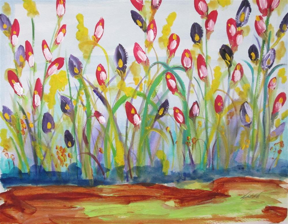 """""""Flower FIeld"""" original fine art by Delilah Smith"""