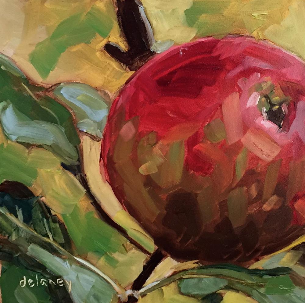 """APPLE A DAY"" original fine art by Jean Delaney"