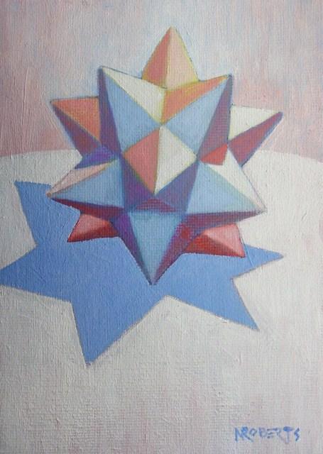 """White Star on White"" original fine art by Nancy Roberts"