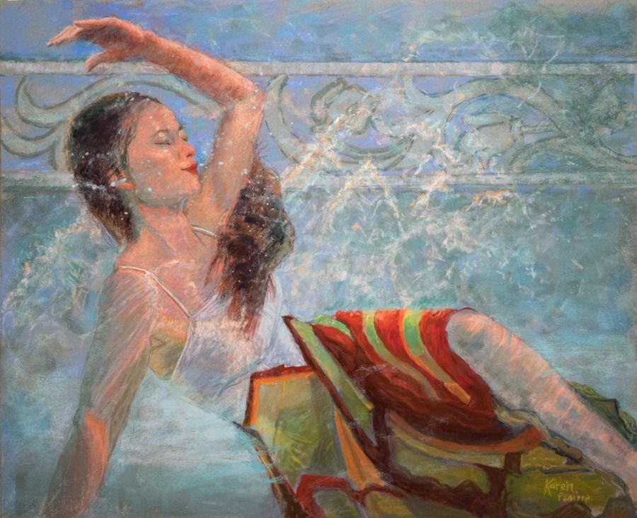 """Depth Perception"" original fine art by karen israel"