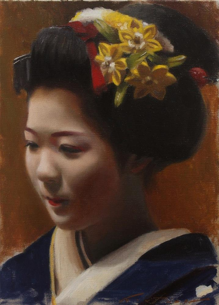 """""""Toshisumi Study"""" original fine art by Phil Couture"""