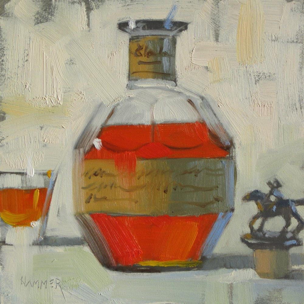 """Blanton's 4  6in x 6in oil"" original fine art by Claudia Hammer"