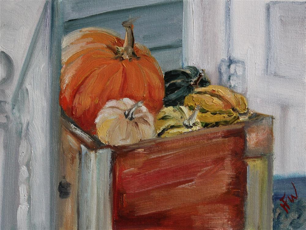 """Harvest Decorations"" original fine art by H.F. Wallen"