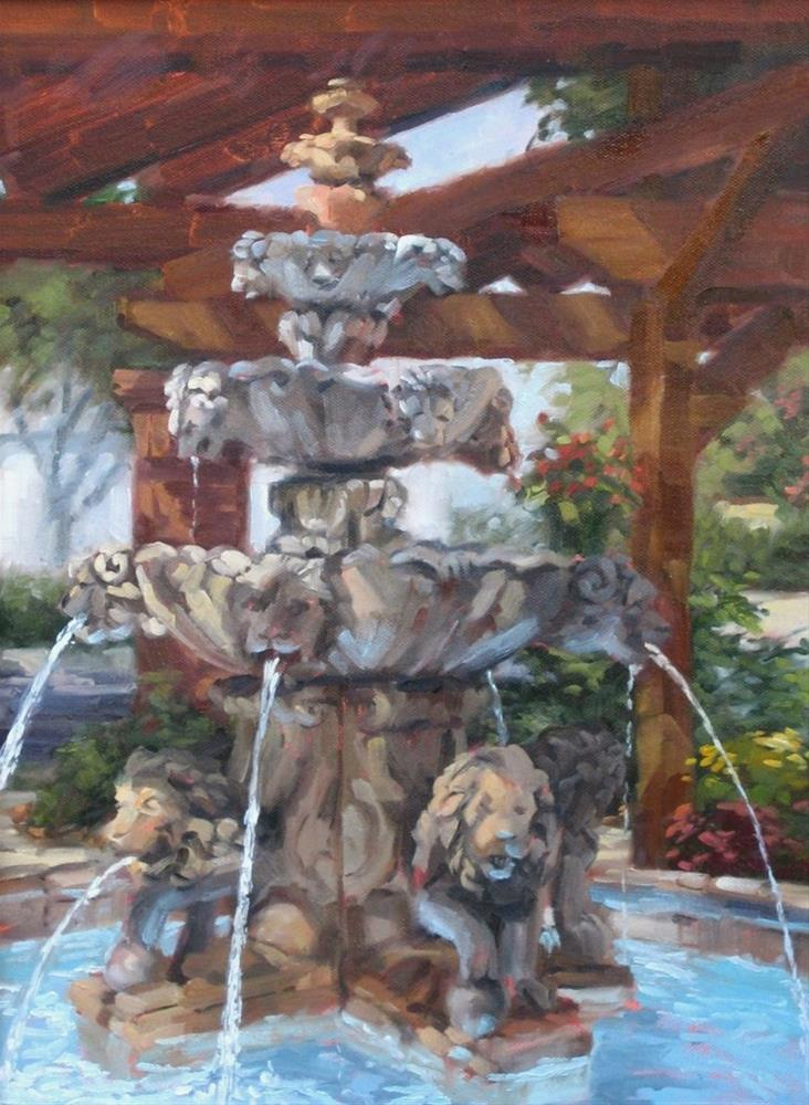 """Armstrong's Fountain"" original fine art by Karen Werner"