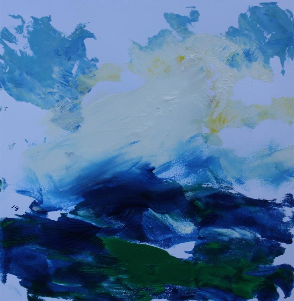 """""""Rough Waters, Monoprints in Acrylic by Amy Whitehouse"""" original fine art by Amy Whitehouse"""