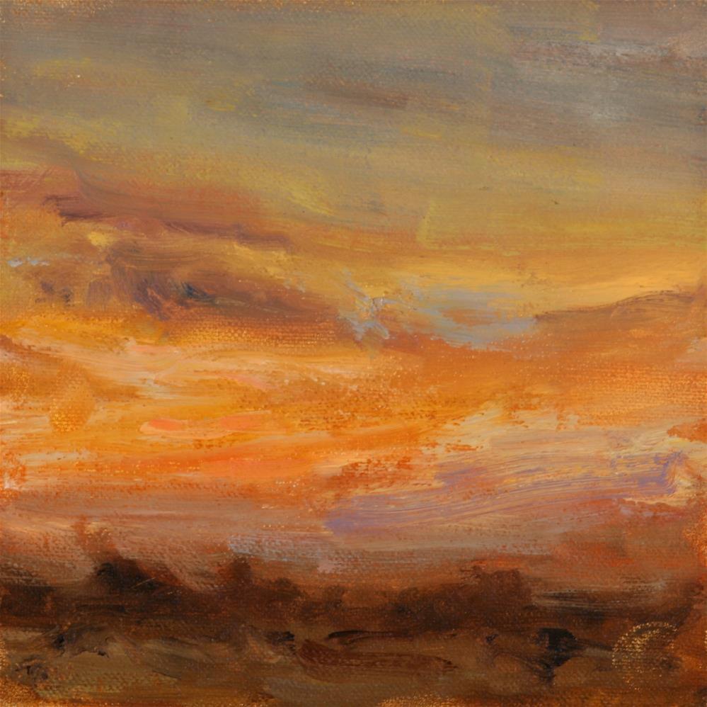 """Summer Sunrise 15"" original fine art by Scott Serafica"