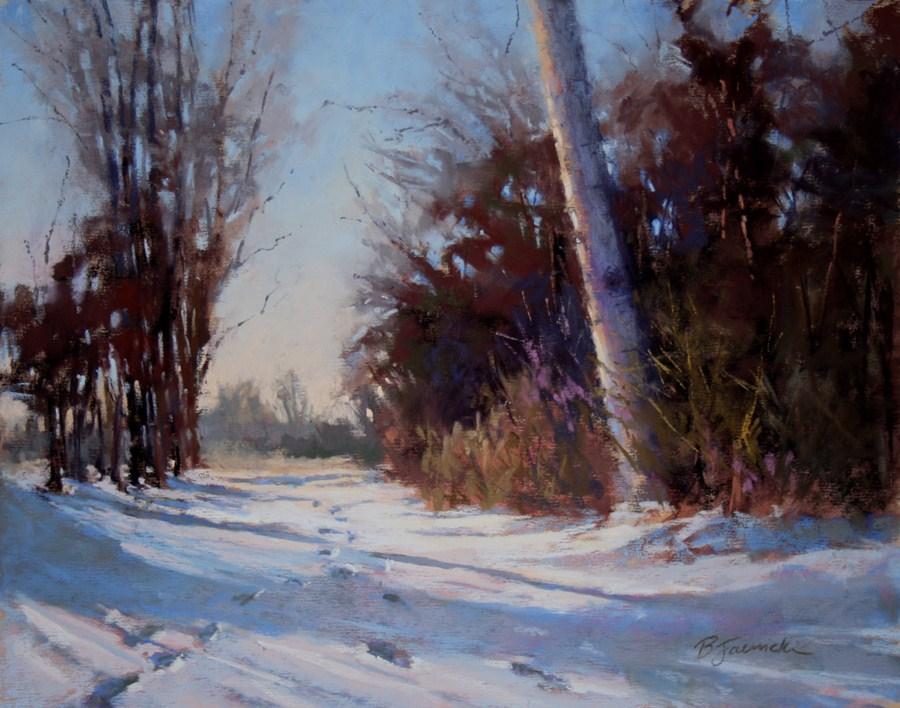 """A Winter Walk"" original fine art by Barbara Jaenicke"