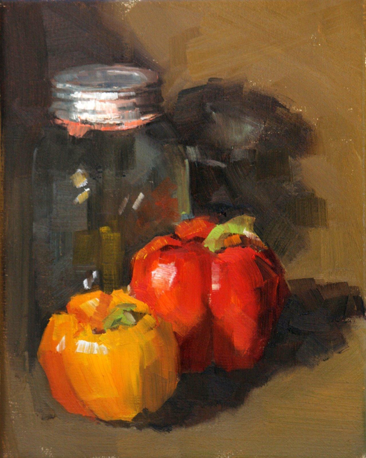 """""""PEPPER DUO"""" original fine art by Carol Carmichael"""