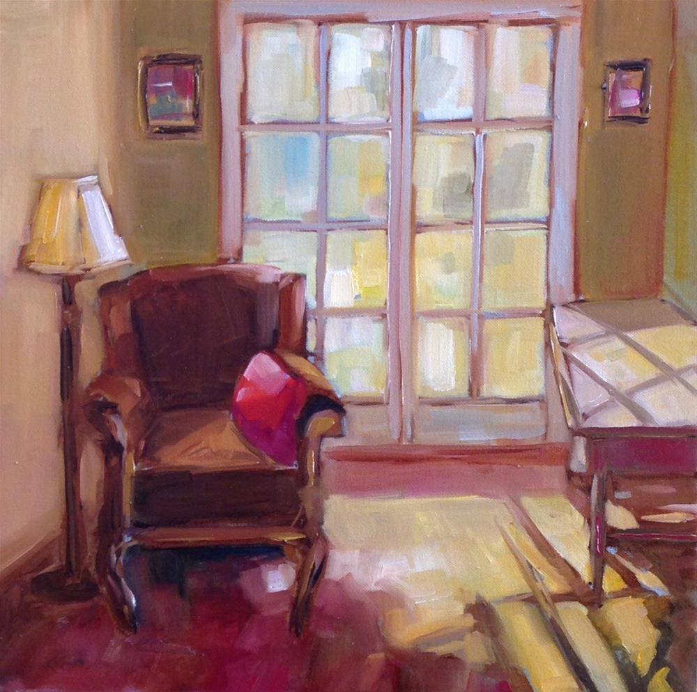 """""""Red Pillow"""" original fine art by Libby Anderson"""