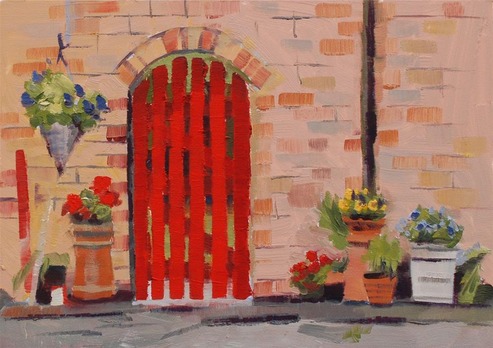 """English Gate"" original fine art by Susan McManamen"