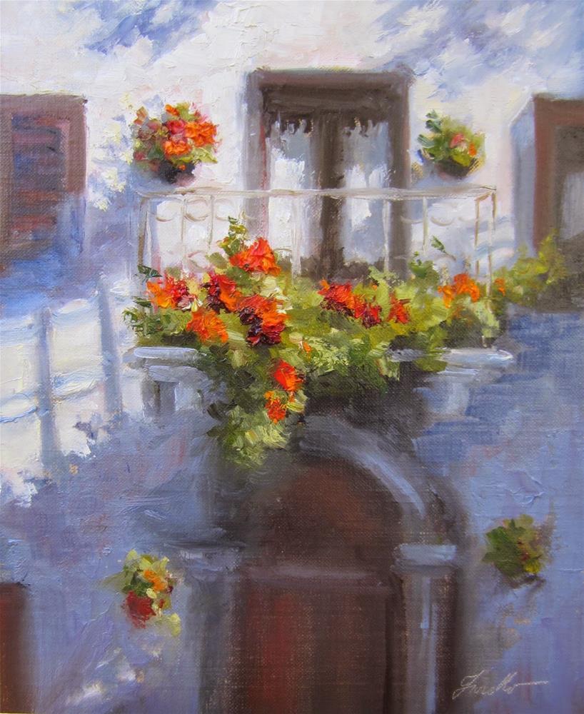 """""""Pienza Balcony II"""" original fine art by Pat Fiorello"""