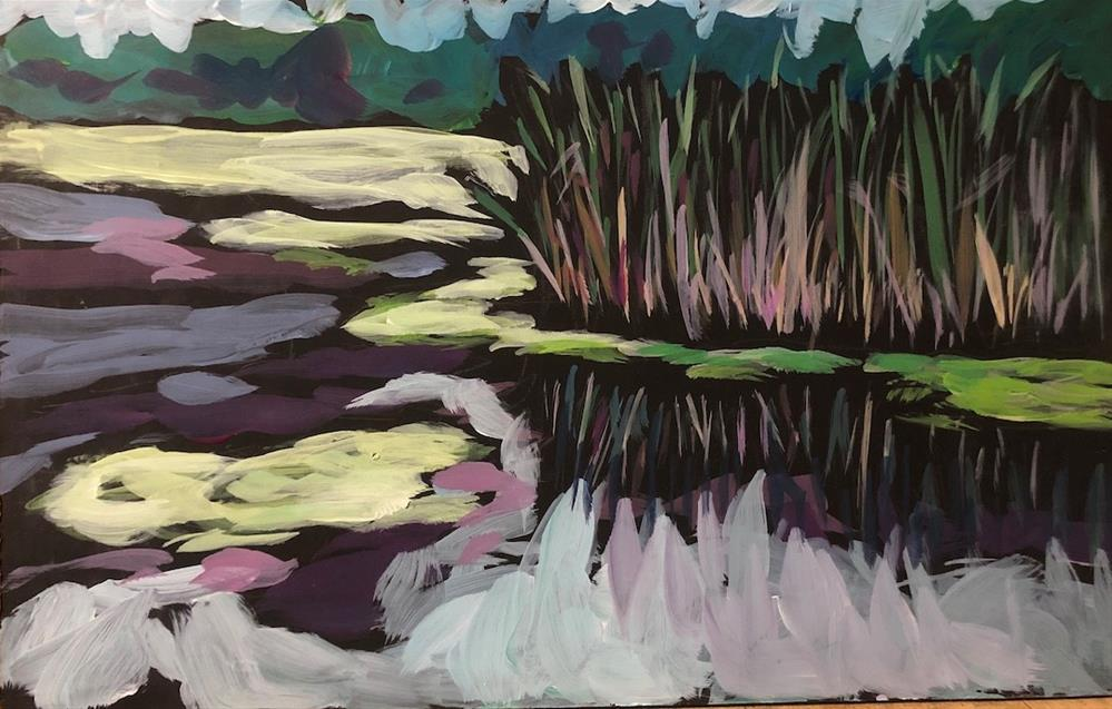 """Rushes at Dodge Nature Center"" original fine art by Kat Corrigan"
