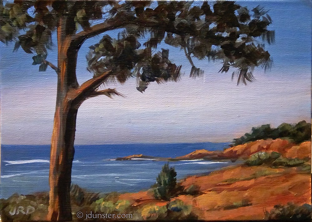 """Albion, Pacific Coast Highway"" original fine art by J. Dunster"