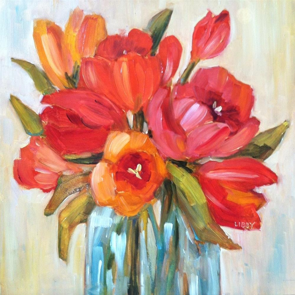"""Tulip Time"" original fine art by Libby Anderson"