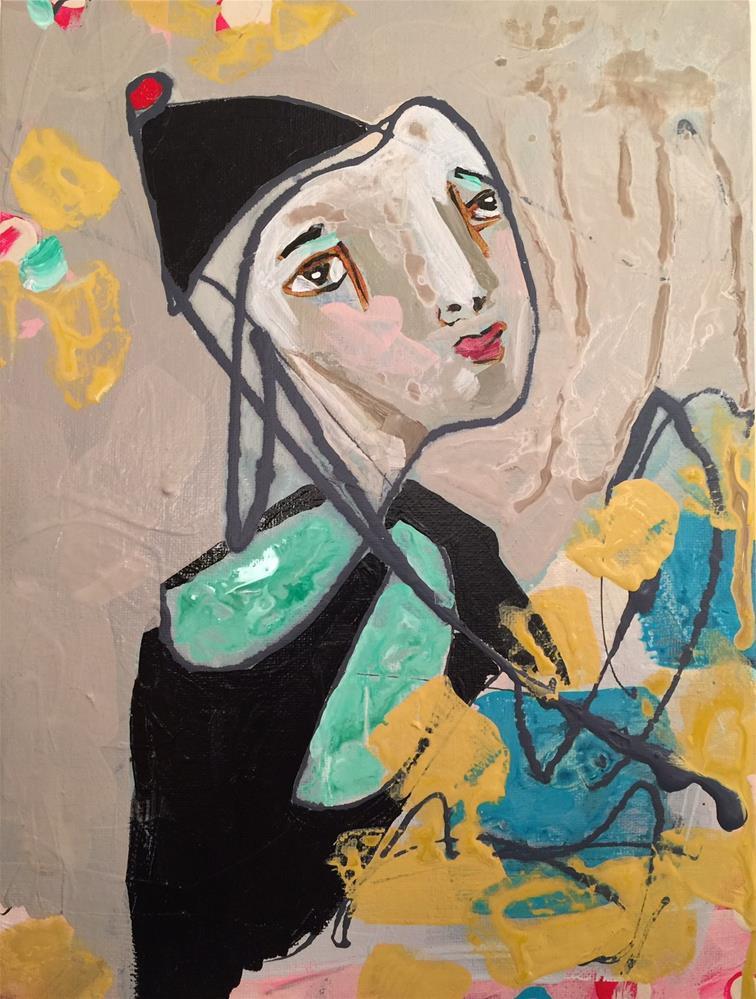 """131 Flower Girl"" original fine art by Jenny Doh"