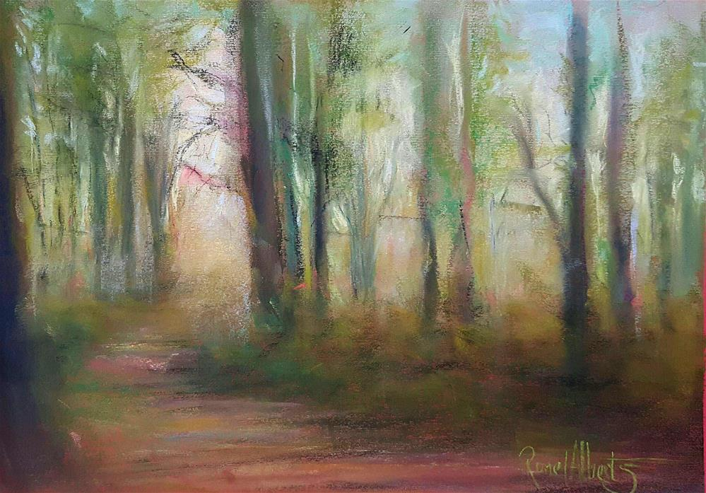"""Peace in the wood"" original fine art by Ronel Alberts"