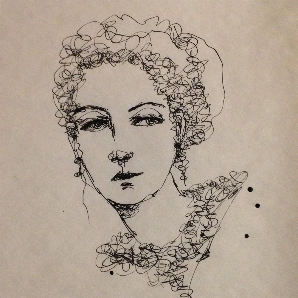 """""""Ink Portrait"""" original fine art by Roberta Schmidt"""