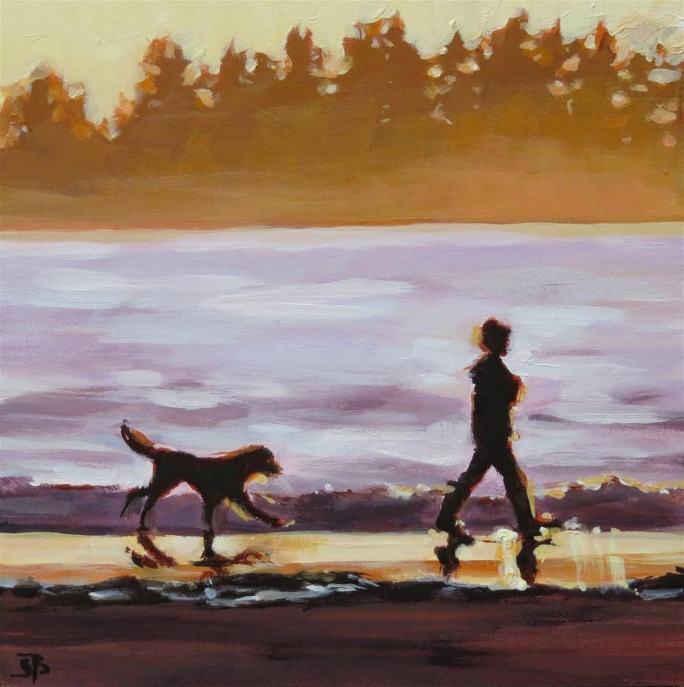 """""""Sunset Stroll"""" original fine art by Shari Buelt"""