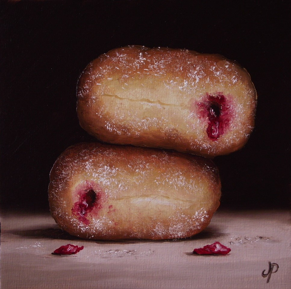 """Jam Doughnuts #13"" original fine art by Jane Palmer"