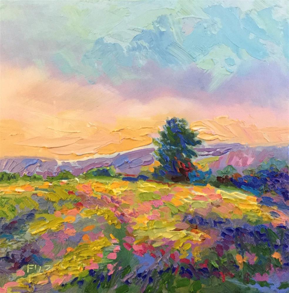 """Impasto Landscape 35"" original fine art by Charlotte Fitzgerald"