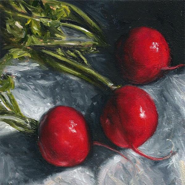 """""""Three Radish"""" original fine art by Peter J Sandford"""