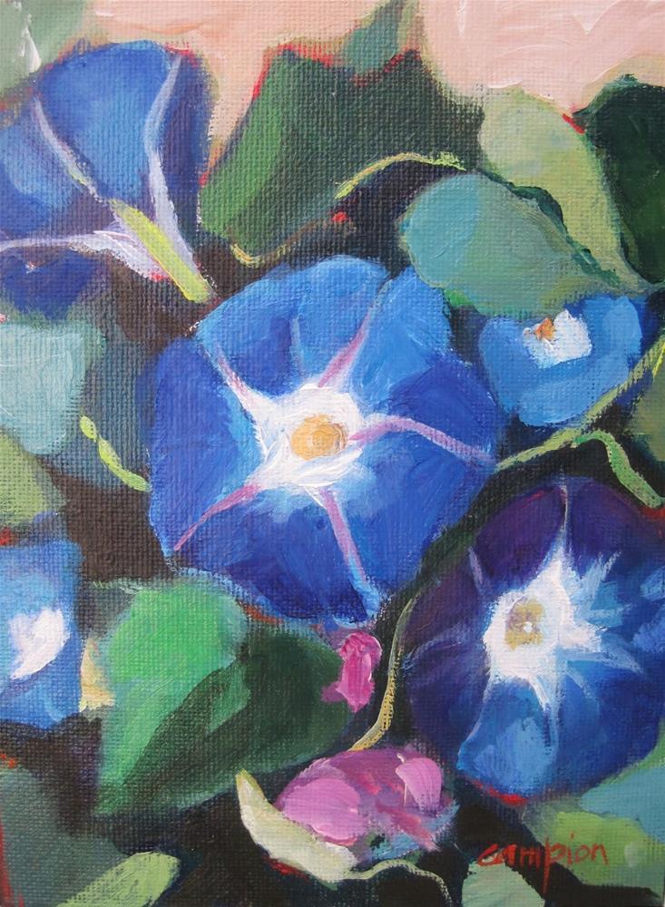 """156 Heavenly Blue"" original fine art by Diane Campion"