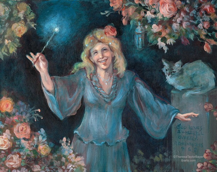 """""""Fairy Godmother (Commission)"""" original fine art by Theresa Taylor Bayer"""