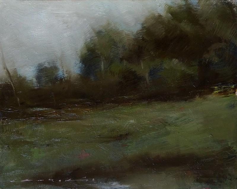 """Landscape"" original fine art by Angel Angelov"