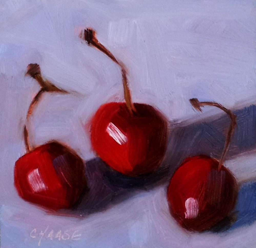 """""""Cherries Jubilee"""" original fine art by Cindy Haase"""