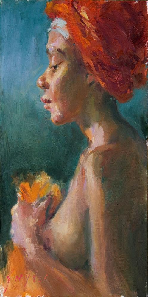 """""""The Bather"""" original fine art by Julie Snyder"""